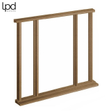 External Hardwood Vestibule Universal Door Frame and Sidelight Kit