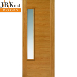 External Oak ALSACE Part L Clear Bevelled Glazed Door