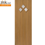 External Oak BORDEAUX Part L Clear Bevelled Glazed Door