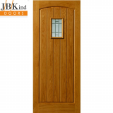 External Oak MOSEL Part L Clear and Obscured Glazed Door