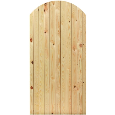 JB Kind External Softwood Arched Top Boarded Panel Door
