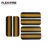 Flexifire Intumescent Self Adhesive Radius Hinge Pads 100mm x 31mm x 0.8mm