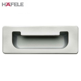 Flush Inset Cabinet Door Pull Handle in Polished Chrome