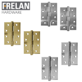 Frelan Hardware Pair of Grade 7 Heavy Duty Fire Rated Button Tip Door Hinges