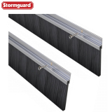 Garage Door Draught Excluder Brush Seal (2500mm - 2 x 1250mm lengths)