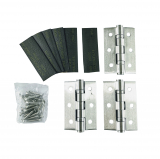 Grade 13 Fire Rated Hinge and Intumescent Pads Stainless Steel 3 Pack