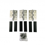Grade 7 Fire Rated Hinge and Intumescent Pads Stainless Steel 3 Pack