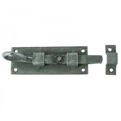Jedo Hand Forged Pewter Straight Security Door Bolt 100mm