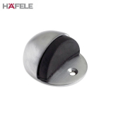 Hooded Floor Mounted Rubber Buffer Door Stop Aluminium