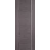 LPD Internal ALCARAZ Chocolate Grey Pre-Finished Flush Fire Door FD30