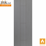 Internal ARDOSIA Pre-Finished Painted Grey Grooved Flush Fire Door FD30