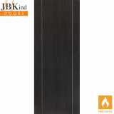 Internal ARGENTO Pre-Finished Painted Ash Grey Vertical Grooved Fire Door FD30