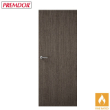 Internal CHARCOAL GREY Vertical Grain Flush Fire Door FD30