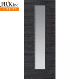 Internal GRIGIO Pre-Finished Painted Ash Grey 1 Light Clear Glazed Door