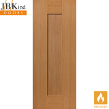 Internal Oak AXIS Pre-Finished Shaker 1 Panel Fire Door FD30