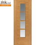 Internal Oak BELA Pre-Finished 4 Light Clear Glazed Door
