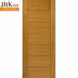 External Oak COGNAC Part L Grooved Flush Door