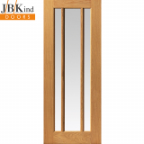 Internal Oak DARWEN 3 Light Clear Glazed Door