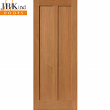 Internal Oak EIGER Shaker Style 2 Panel Door