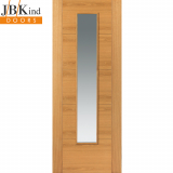 Internal Oak EMRAL Pre-Finished 1 Light Clear Glazed Door