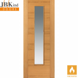 Internal Oak EMRAL Pre-Finished 1 Light Clear Glazed Fire Door FD30
