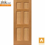 Internal Oak GRIZEDALE Pre-Finished Traditional 6 Panel Fire Door FD30