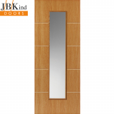 Internal LOUVRE Pre-Finished Painted Oak Effect 1 Light Clear Glazed Door