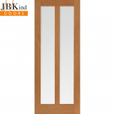 Internal Oak MATTERHORN 2 Light Clear Glazed Door