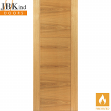 Internal Oak MISTRAL Pre-Finished Grooved Flush Fire Door FD30
