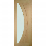 XL Joinery Internal Oak Salerno Pre-Finished Clear Glazed Door