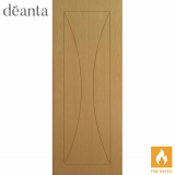 Deanta Internal Oak Sorrento Flush Fire Door
