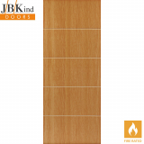 Internal TATE Pre-Finished Painted Oak Effect Grooved Flush Fire Door FD30