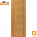 Internal Oak TIGRIS Pre-Finished Grooved Flush Fire Door FD30