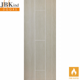 Internal VIRIDIS Pre-Finished Natural Painted Grooved Flush Fire Door FD30