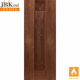 Internal Walnut AXIS Pre-Finished Shaker 1 Panel Fire Door FD30