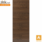 Internal Walnut FERNOR Pre-Finished Horizontal Grain Flush Fire Door FD30