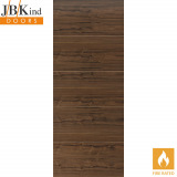 Internal Walnut LARA Pre-Finished Horizontal 4 Line Flush Fire Door FD30