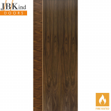 Internal Walnut MAYETTE Pre-Finished Vertical Inlay Fire Door FD30