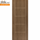 Internal MOCHA Pre-Finished Painted Grooved Ladder Style Flush Door
