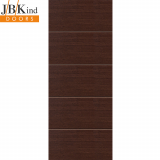 Internal WENGE Pre-Finished Painted Horizontal 4 Line Flush Door