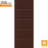 Internal WENGE Pre-Finished Painted Horizontal 4 Line Flush Fire Door FD30