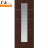 Internal WENGE Pre-Finished Painted 1 Light Clear Glazed Door