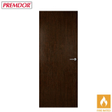 Internal WENGE Vertical Grain Flush Fire Door FD30