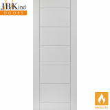 Internal White Primed Apollo Grooved Flush Fire Door FD30