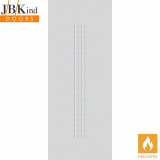 Internal White Primed CRITERION Dotted Grooved Flush Fire Door FD30