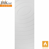 Internal White Primed ECLIPSE Spiral Grooved Flush Fire Door FD30
