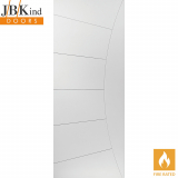 Internal White Primed ELEKTRA Feature Grooved Flush Fire Door FD30