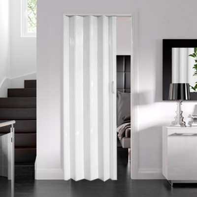 Internal White Gloss Accordion Concertina Folding Door (6mm Thick)