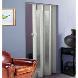 Internal White Gloss Glazed Concertina Folding Door (12mm Thick)