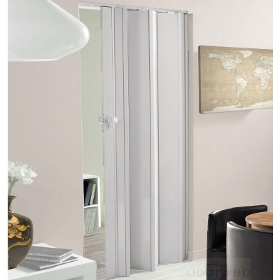 Internal White Gloss Lockable Concertina Folding Door (12mm Thick)